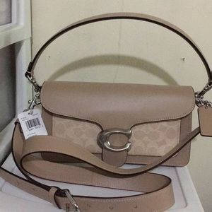 Coach signature  canvas & leather Tabby 26